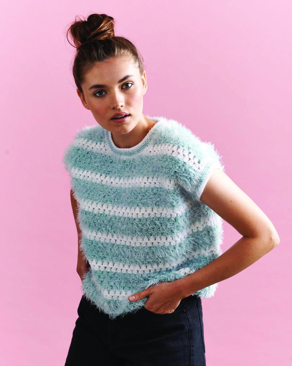Panda Minky Plush - Crochet Cropped Top