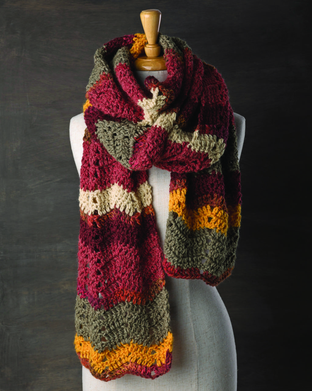 Patons Jet 12ply - Easy Crochet Scarf