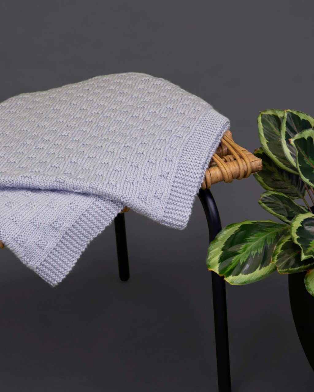 Baby Merino 8ply - Basketweave Blanket