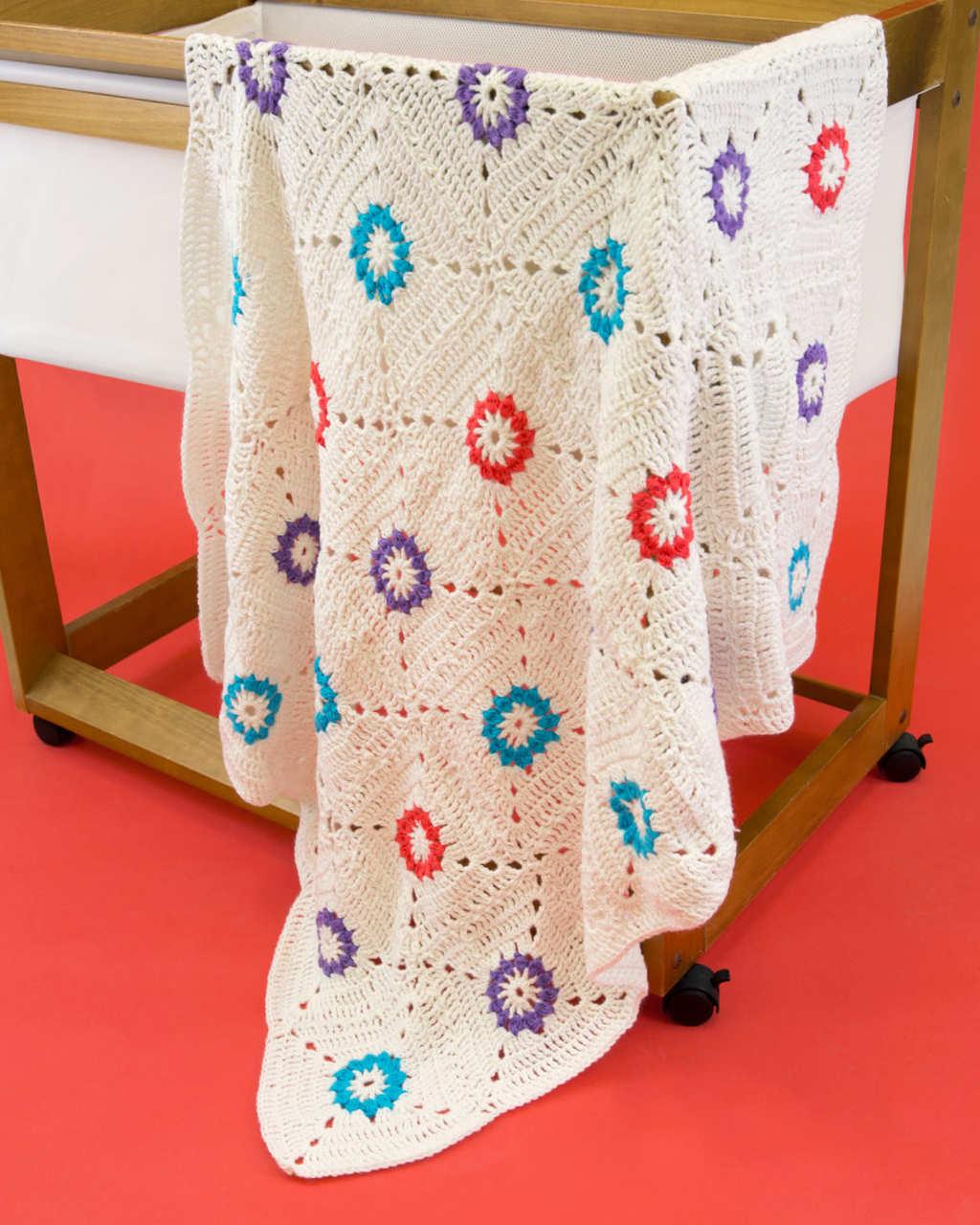 Baby Soft 8ply - Flower Motif Blanket