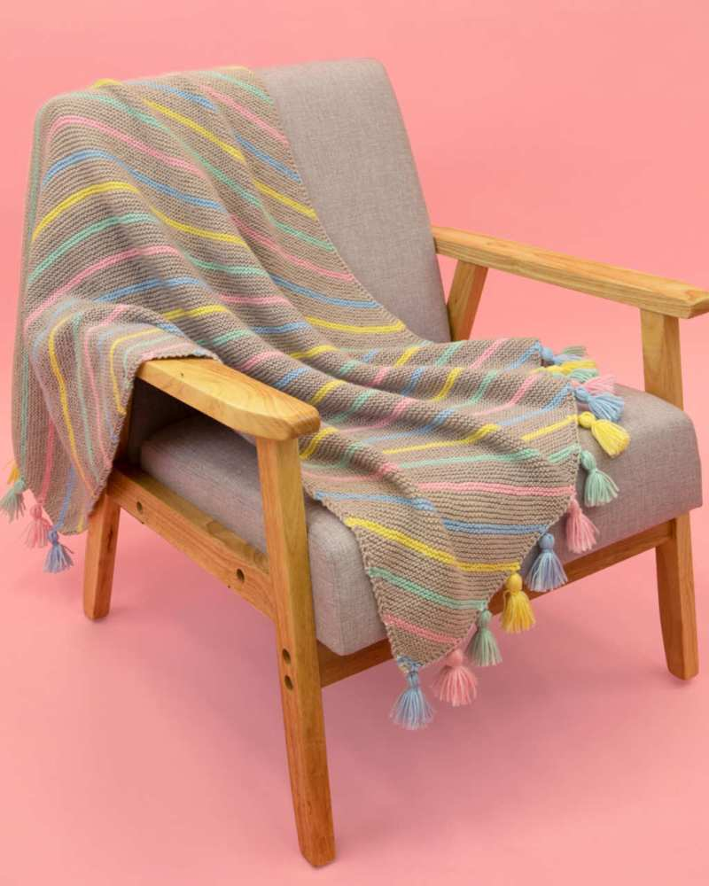 Baby Soft 8ply - Diagonal Stripe Blanket