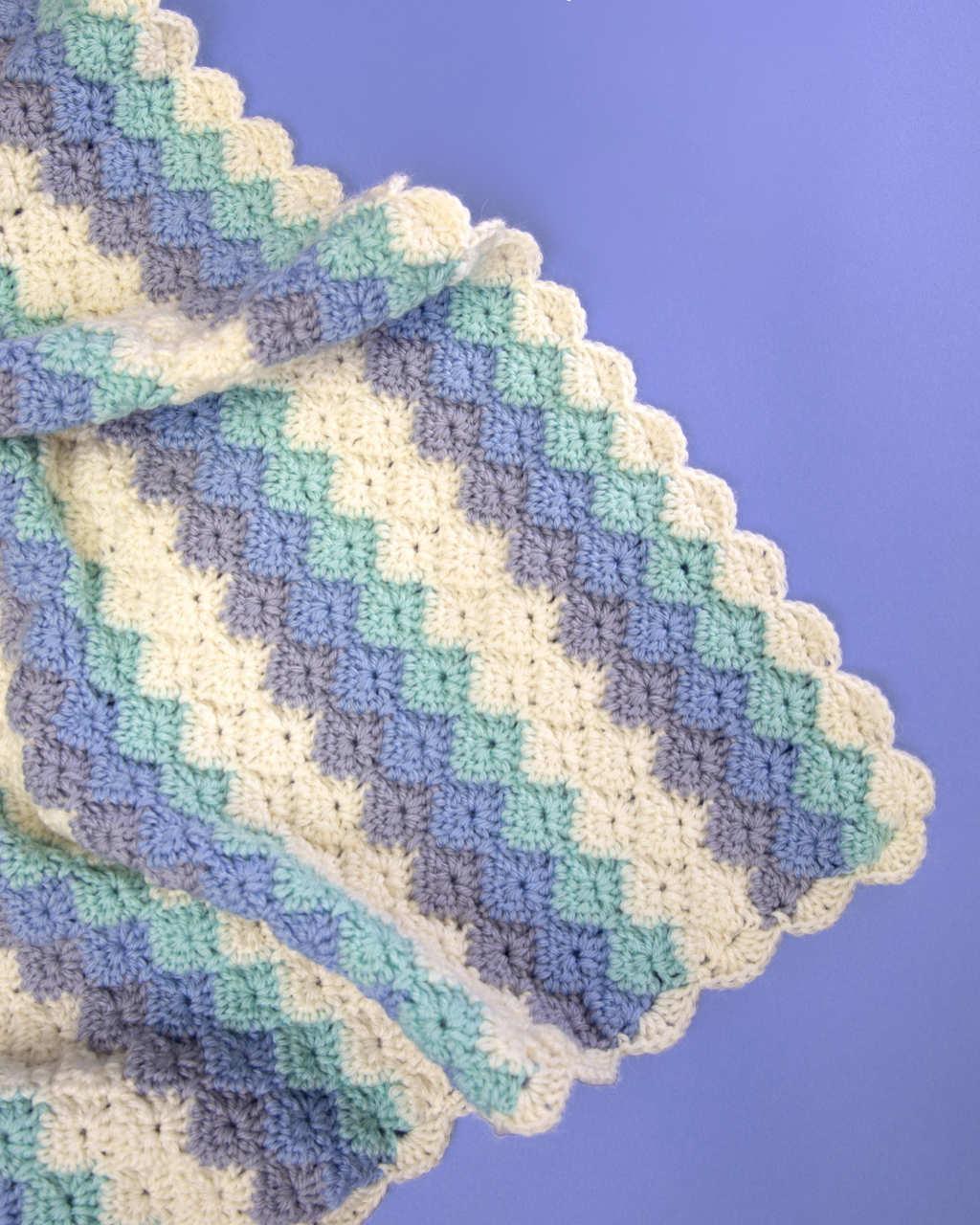 Baby Merino 8ply - Harlequin Stripe Blanket