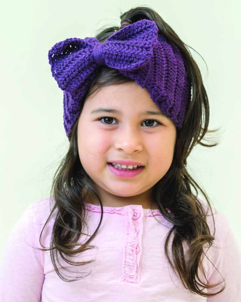 Grasslands 8ply – Crochet Bow Headband