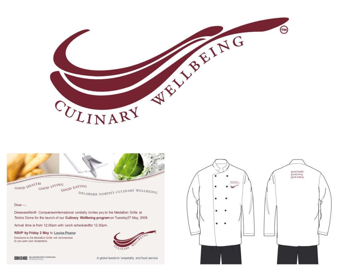 Culinary Wellbeing - Logo, Invite & Uniform