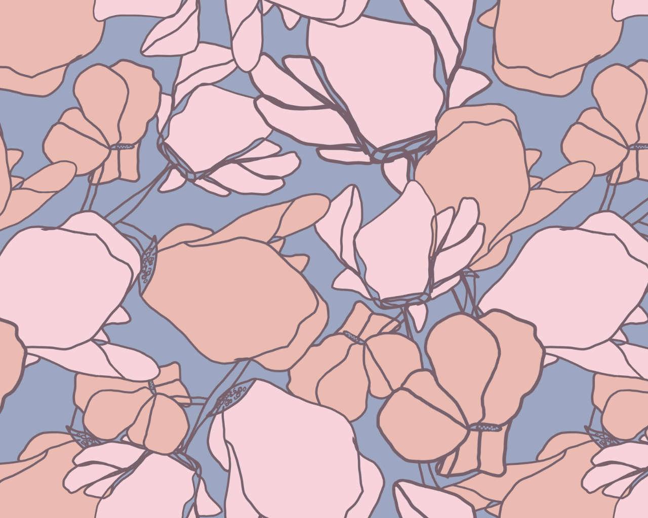 Flat Bloom - Pattern Repeat