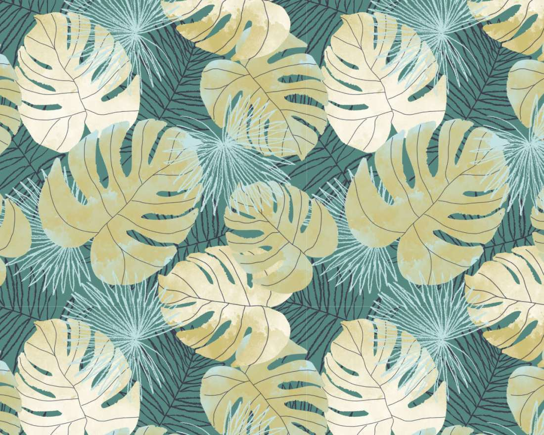 Gold Leaves - Pattern Repeat