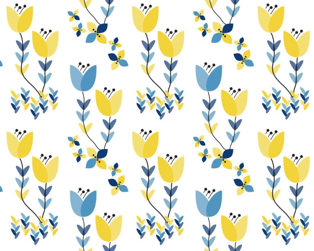 Scandi Bloom - Pattern Repeat